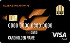 "Кобренд карта ""Visa Gold"" (USD)/(UZS)"